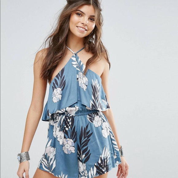 Somedays Lovin Womens After The After The Storm Floral Print Cold Shoulder Dress